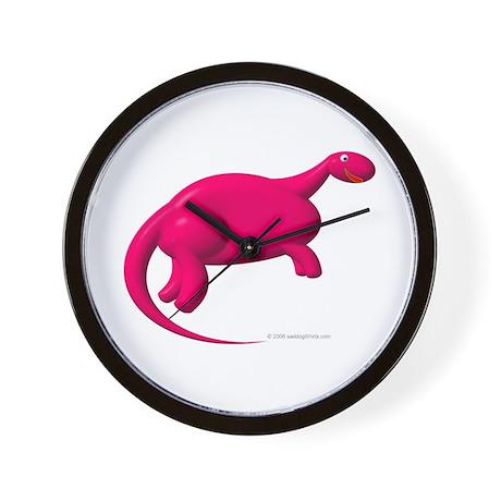 Sexy Hot-Pink Dinosaur Wall Clock