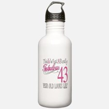 43rd Birthday Gifts Water Bottle