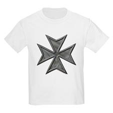 Gray Maltese Cross Kids T-Shirt