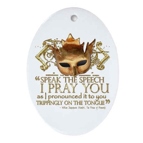 "Hamlet ""Speech"" Quote Ornament (Oval)"