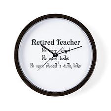 Cute Funny teacher retirement Wall Clock