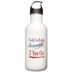 Incredible At 21 Water Bottle