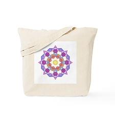 Purple Star Flower Tote Bag