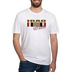 Iraq Veteran Ribbon Fitted T-Shirt