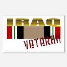 Iraq Veteran Ribbon Rectangle Decal