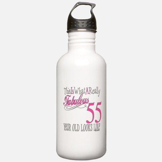 55th Birthday Gifts Water Bottle