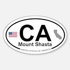 Mount Shasta Sticker (Oval)