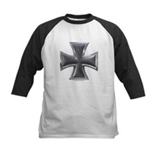 Black & Chrome Iron Cross Tee