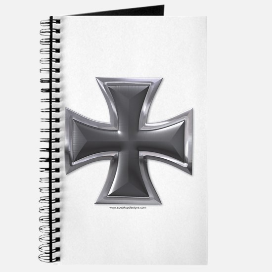 Black & Chrome Iron Cross Journal