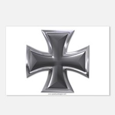 Black & Chrome Iron Cross Postcards (Package of 8)