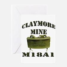 Claymore Mine Greeting Card