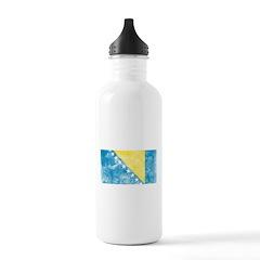 Vintage Bosnia Flag Water Bottle