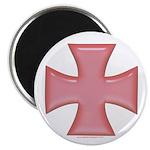 Pink Iron Cross Magnet