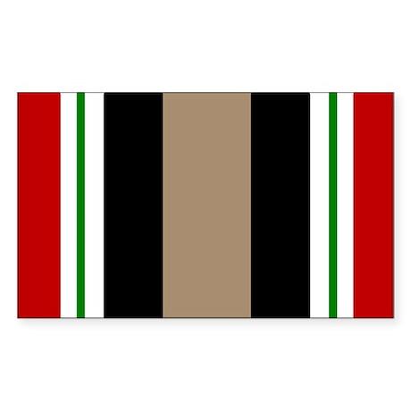 Iraq Veteran Ribbon Rectangle Sticker