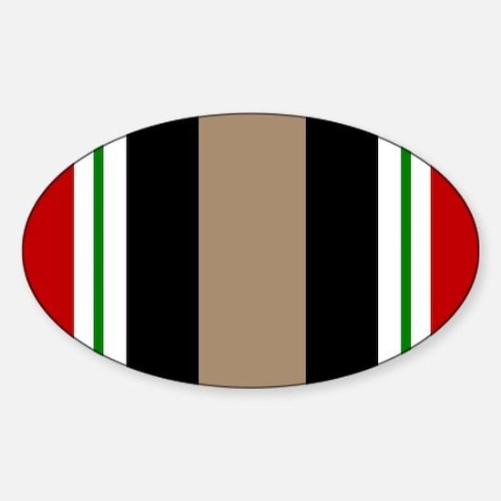 Iraq Veteran Ribbon Oval Decal