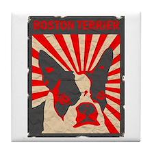 Boston Terrier Revolution Tile Coaster