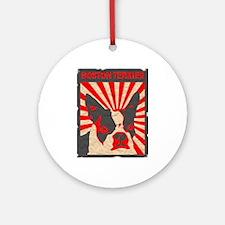 Boston Terrier Revolution Ornament (Round)