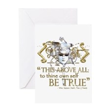 "Hamlet ""Be True"" Quote Greeting Card"