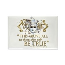 "Hamlet ""Be True"" Quote Rectangle Magnet (10 pack)"