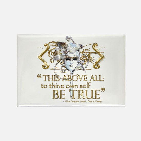"""Hamlet """"Be True"""" Quote Rectangle Magnet (10 pack)"""