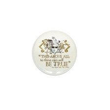 "Hamlet ""Be True"" Quote Mini Button (10 pack)"