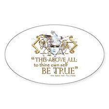 "Hamlet ""Be True"" Quote Decal"