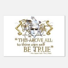 """Hamlet """"Be True"""" Quote Postcards (Package of 8)"""