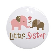 Little Sister - Mod Elephant Ornament (Round)