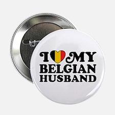 "I Love My Belgian Husband 2.25"" Button"