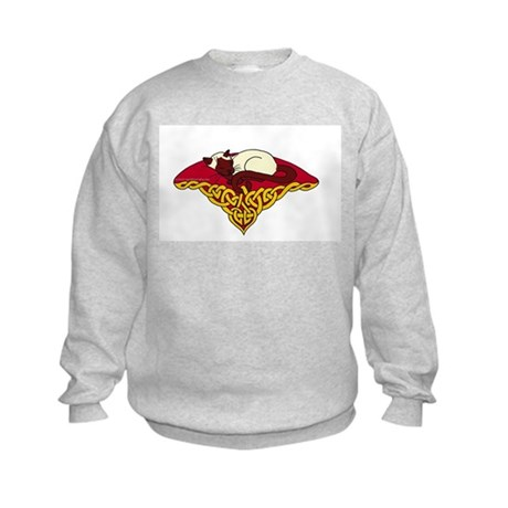 Cat Nap Siamese Kids Sweatshirt