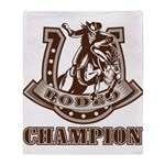 rodeo champion Throw Blanket