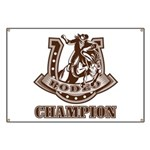 rodeo champion Banner
