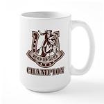 rodeo champion Large Mug