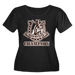 rodeo champion Women's Plus Size Scoop Neck Dark T