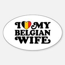 I Love My Belgian Wife Decal