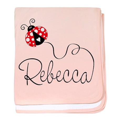 Ladybug Rebecca baby blanket