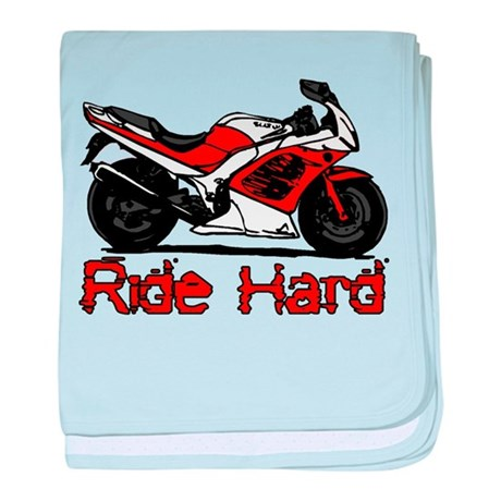 Ride Hard baby blanket