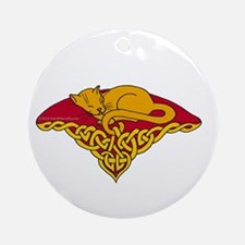 Cat Nap Abyssinian Ornament (Round)
