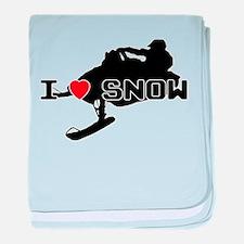 I Heart Snow baby blanket