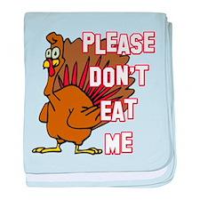 Eat Turkey baby blanket
