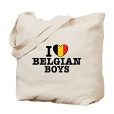 I Love Belgian Boys Tote Bag