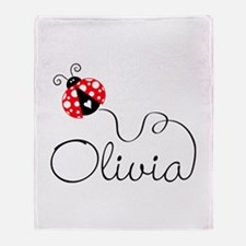 Ladybug Olivia Throw Blanket