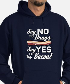 """Say """"Yes"""" to Bacon - Hoodie (dark)"""