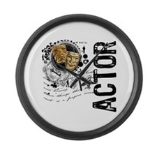 Actor Alchemy Collage Large Wall Clock