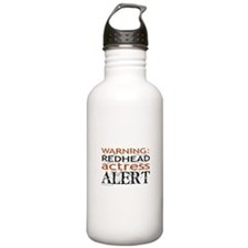 Warning: Redhead Actress Water Bottle