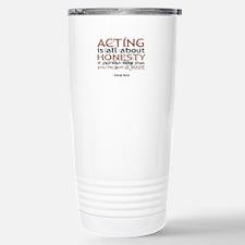 George Burns Acting Quote Travel Mug