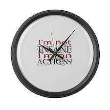Insane actress Large Wall Clock
