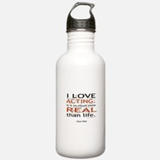 Oscar Wilde Quote on Acting Water Bottle