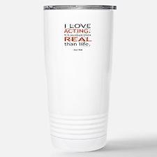 Oscar Wilde Quote on Acting Travel Mug