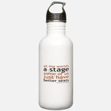 All the world's a stage Water Bottle